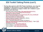 esi toolkit talking points con t21