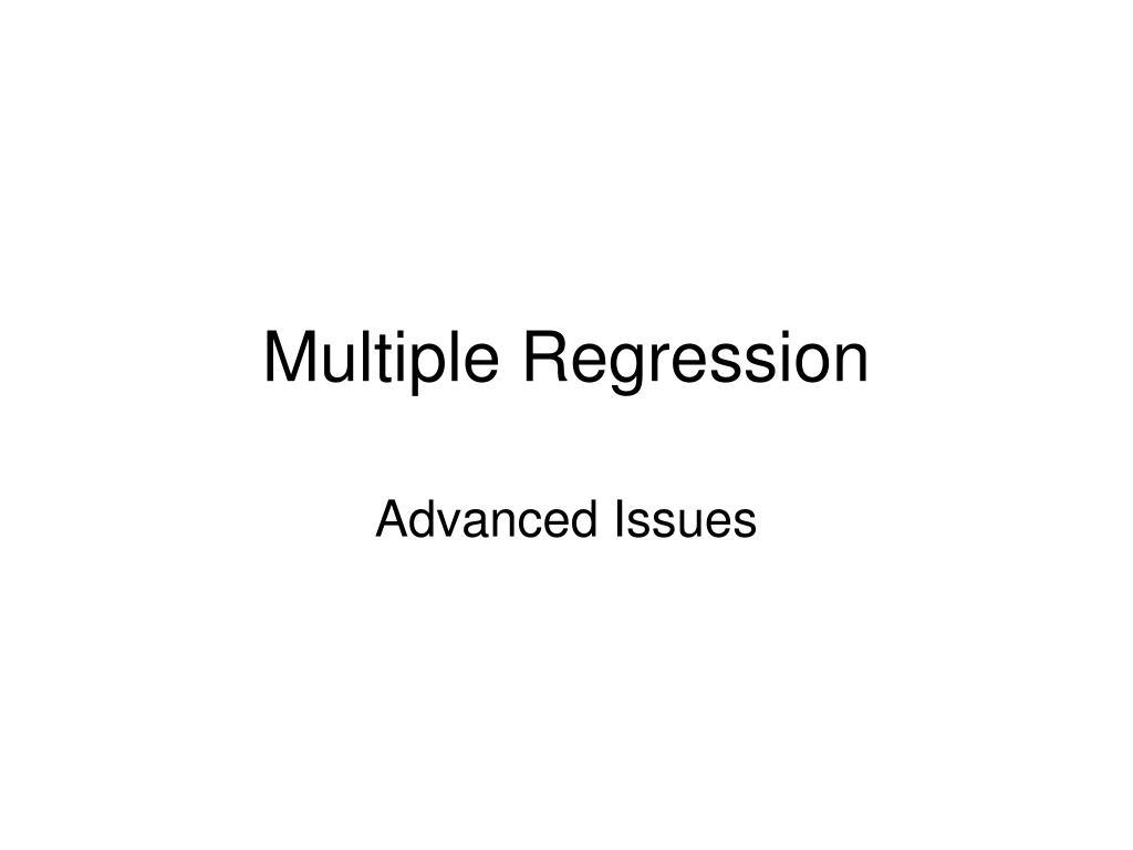 multiple regression l.