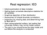 real regression ied