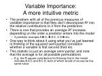 variable importance a more intuitive metric