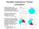 variable importance partial correlation
