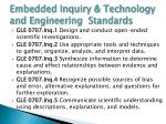 embedded inquiry technology and engineering standards