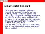 editing crontab files con t