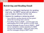 retrieving and reading email