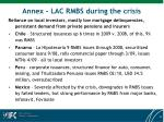 annex lac rmbs during the crisis