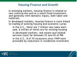 housing finance and growth