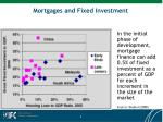 mortgages and fixed investment