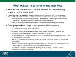 real estate a tale of many markets
