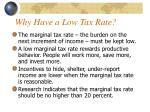 why have a low tax rate