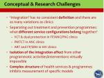 conceptual research challenges