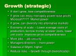 growth strategic