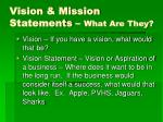 vision mission statements what are they