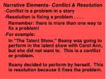 narrative elements conflict resolution