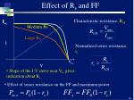 effect of r s and ff