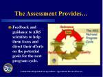 the assessment provides11