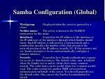samba configuration global