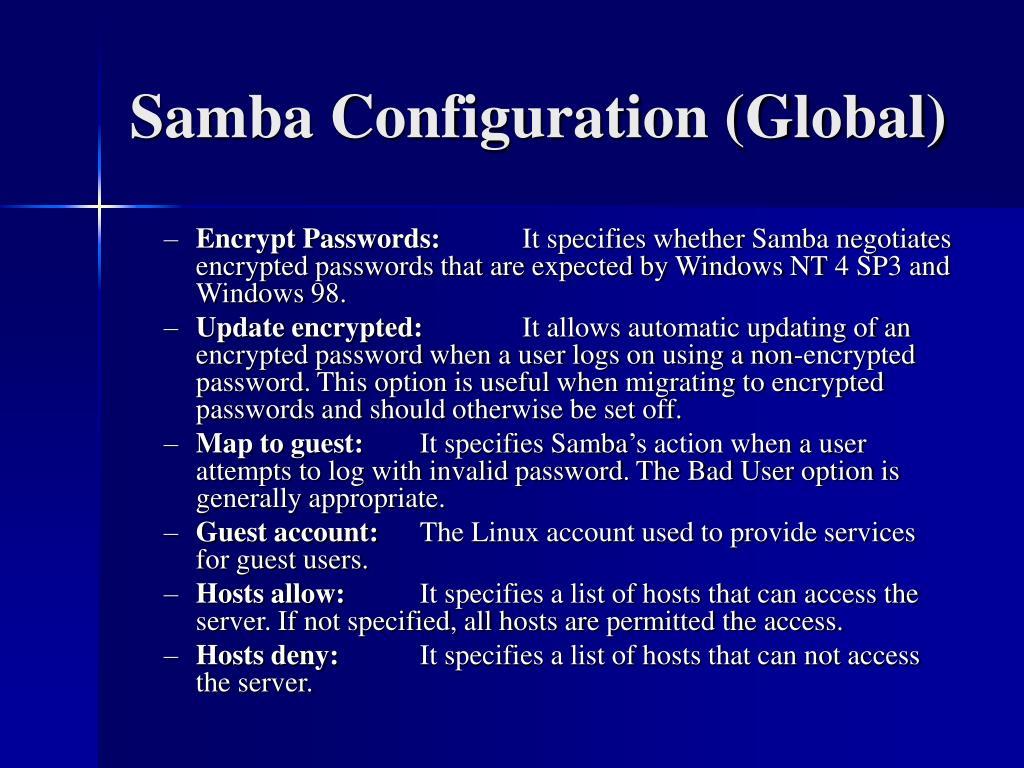 Samba Configuration (Global)