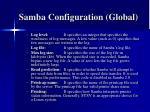 samba configuration global16