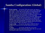 samba configuration global17