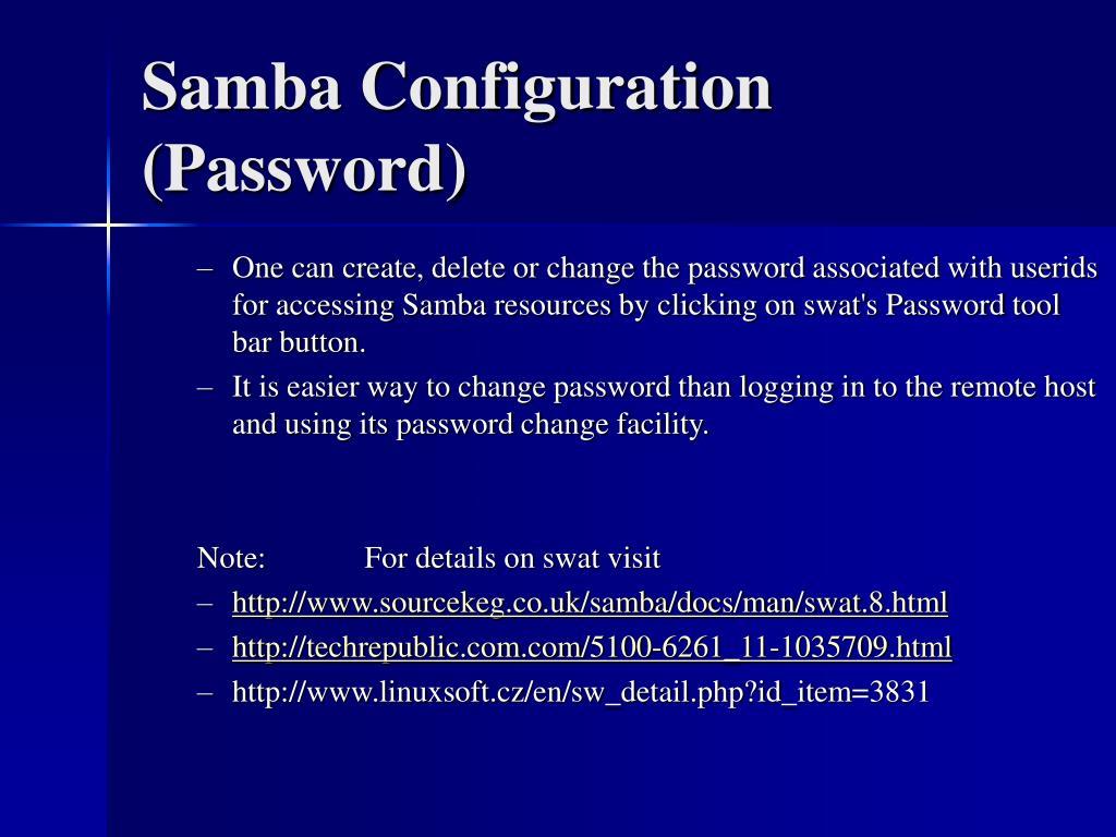 Samba Configuration (Password)