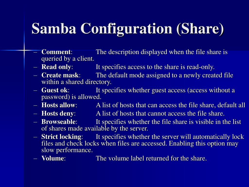Samba Configuration (Share)