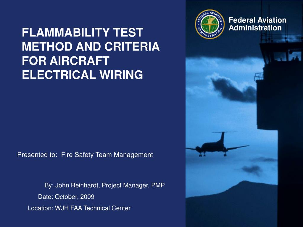 flammability test method and criteria for aircraft electrical wiring l.