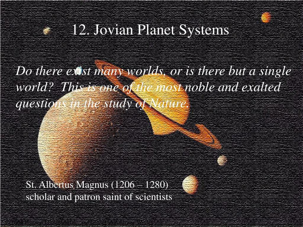 12 jovian planet systems l.