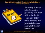 identification of all project stakeholders tool 02 surveying