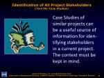 identification of all project stakeholders tool 06 case studies