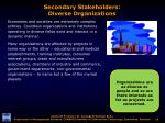 secondary stakeholders diverse organizations