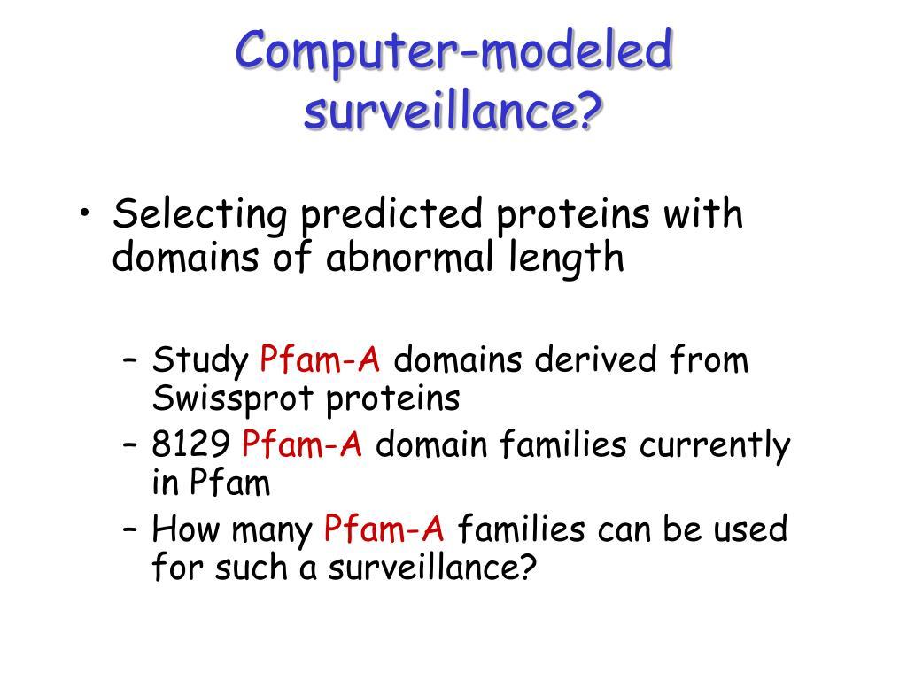 Computer-modeled surveillance?