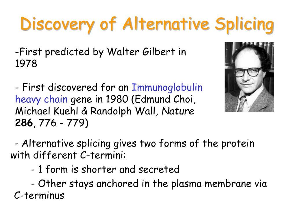 Discovery of Alternative Splicing