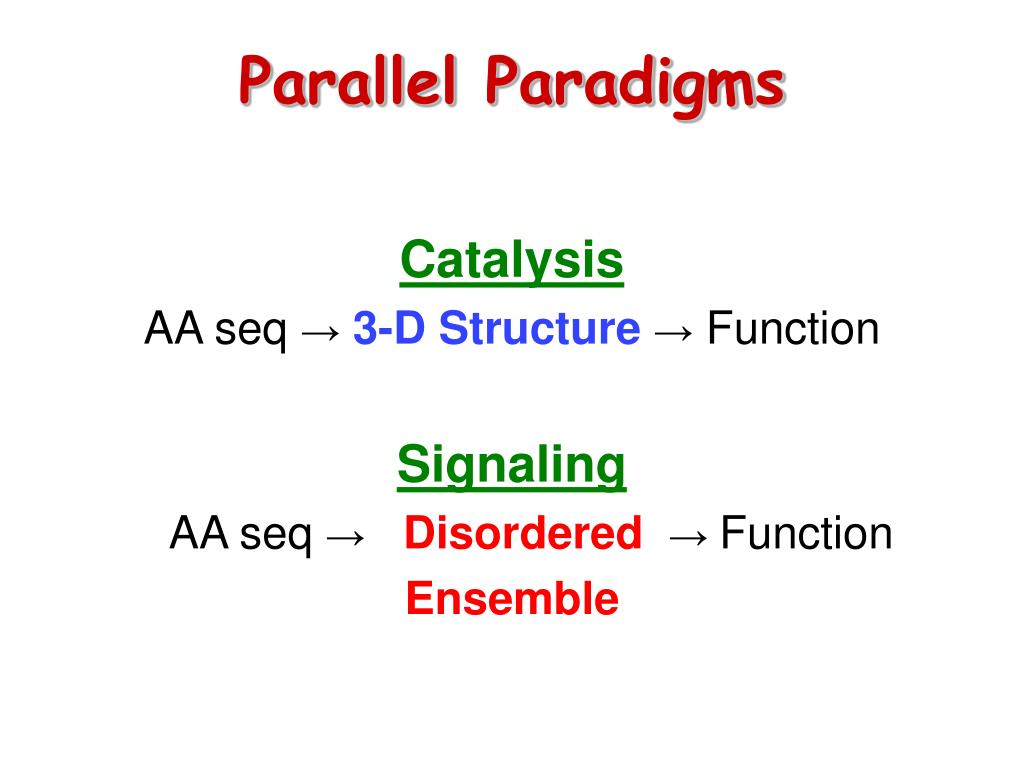Parallel Paradigms
