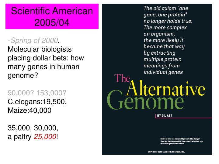 Scientific American 2005/04