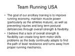 team running usa