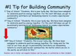 1 tip for building community