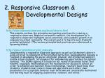2 responsive classroom developmental designs