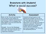 brainstorm with students what is social success
