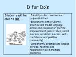 d for do s