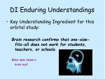 di enduring understandings