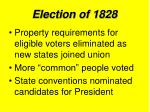 election of 18284
