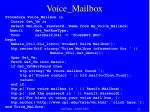 voice mailbox