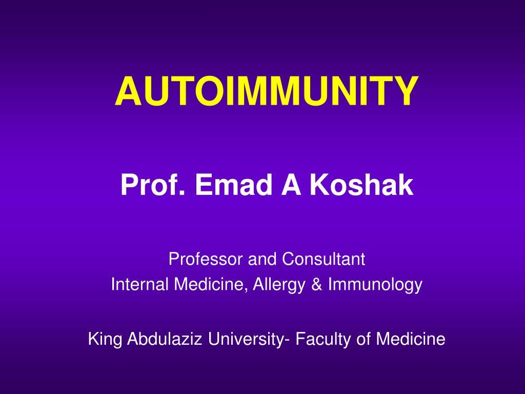 autoimmunity l.