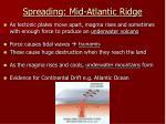 spreading mid atlantic ridge