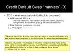 credit default swap markets 3