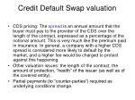 credit default swap valuation