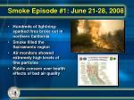 smoke episode 1 june 21 28 2008