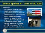 smoke episode 1 june 21 28 200818