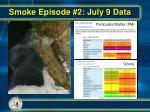 smoke episode 2 july 9 data