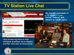 tv station live chat